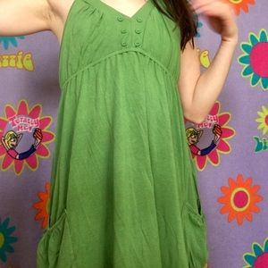 Splendid green halter dress with pockets